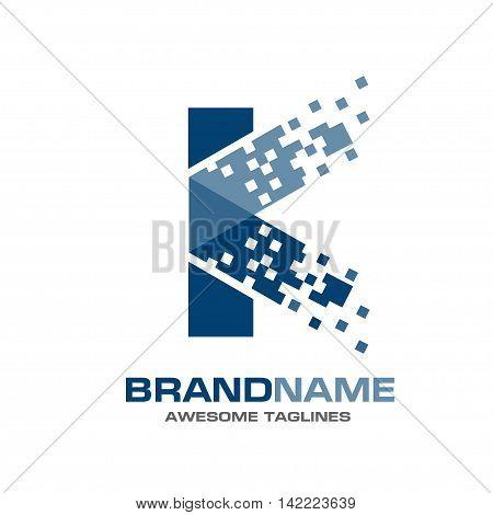 Letter K logo technology, data , strong elegant classy concept