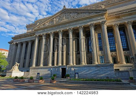 National Archives Building In Washington Dc Us