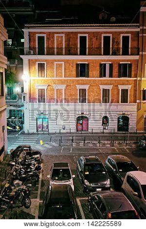 Via Leonina Street In City Center Of Rome In Italy