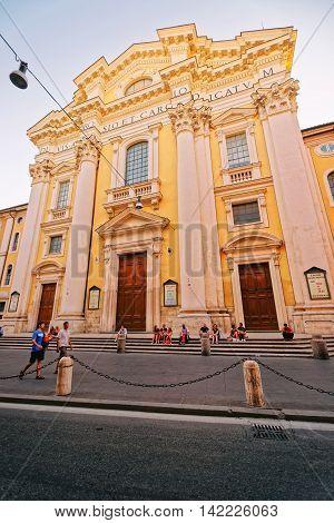 Basilica Dei Sant Ambrogio In Rome Of Italy