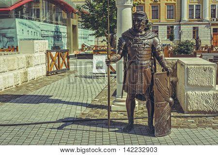 Roman Soldier Bronze Statue
