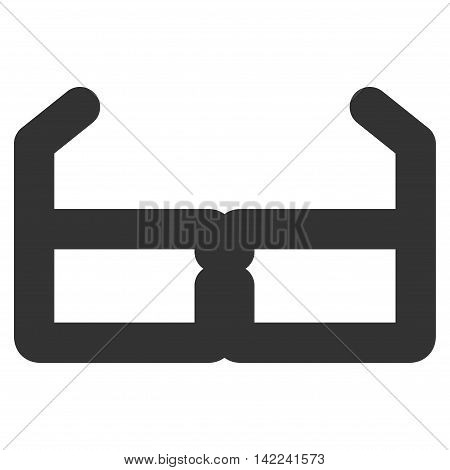 Spectacles vector icon. Style is outline flat icon symbol, gray color, white background.