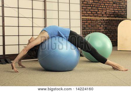 Pilates Stretch on Ball