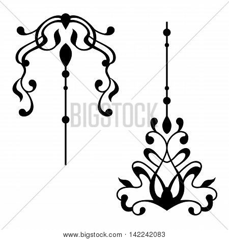 vintage, baroque elements for design. vintage pattern, vintage curls, vintage elements, vintage ornament, filigree vintage, ornate vintage, Vector.