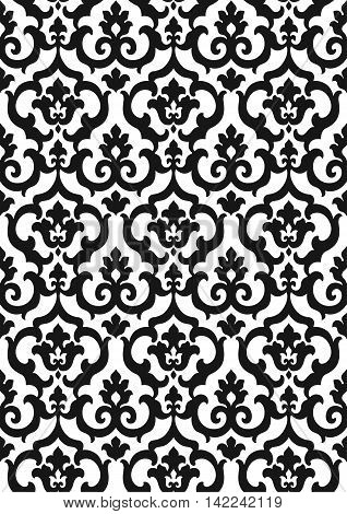 Damask background, damask pattern, damask ornament, damask image, damask forge, damask print, damask seamless, damask classic. Vector.