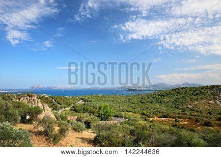 Sardinia coast. Costa Smeralda with amazing beaches (Italy)