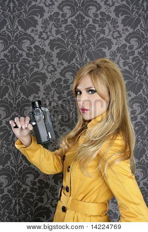 Fashion Super 8Mm Camera Reporter Woman Vintage