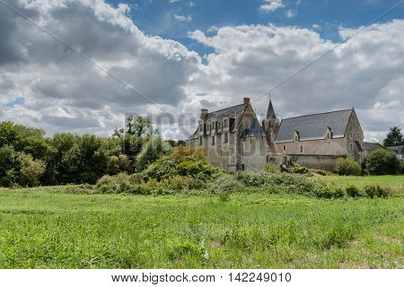 Dovecot and XIIth-XIVth century Priory, Le Louroux, Touraine, France
