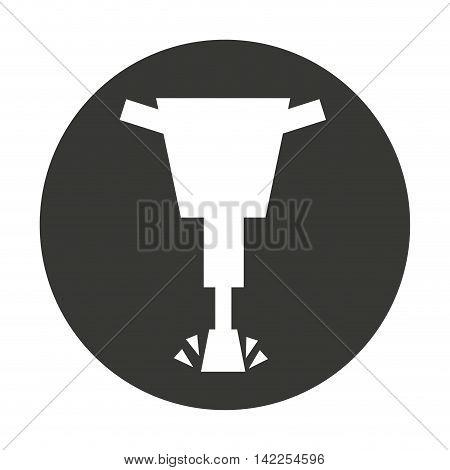 hammer hydraulic isolated icon vector illustration design