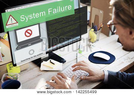 System Failure Error Detection Defeat Concept poster