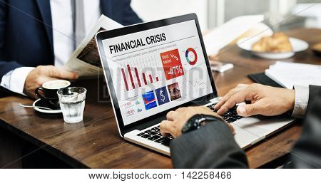 Business Finance Crisis Graphic Data Concept