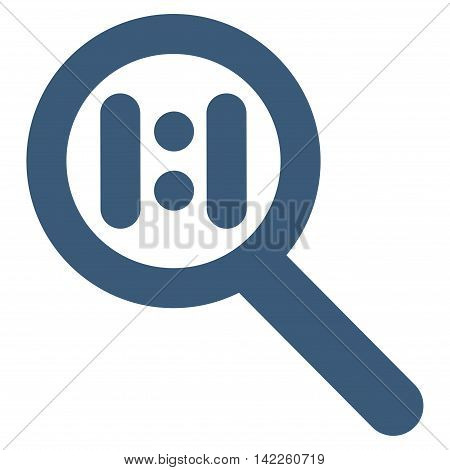 Zoom Actual Scale vector icon. Style is outline flat icon symbol, blue color, white background.