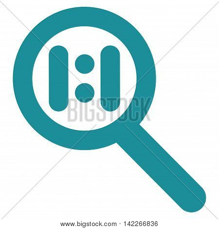 Zoom Actual Scale vector icon. Style is linear flat icon symbol, soft blue color, white background.
