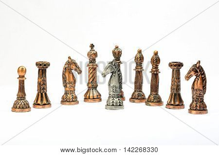 Chess set board game strategy king queen bishop knight rook pawn