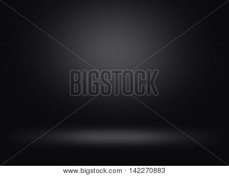 Abstract black dark background with light Studio use, backdrop lighting room copy space for text