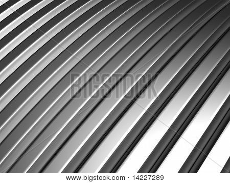 Aluminum silver stripe pattern background 3d illustration poster
