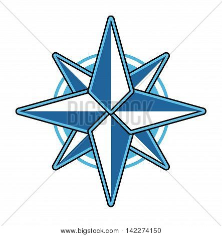 Wind rose compass flat vector symbol exploration design old sign. Travel marine star wind rose symbol longitude shape. Cartography direction east west wind symbol star element geography.