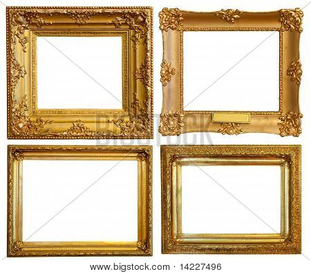 Set Of  Luxury Gilded Frames