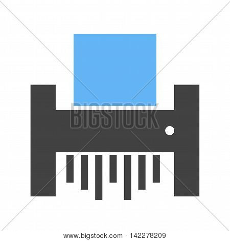 Paper, shredder, business icon vector image.Can also be used for finances trade. Suitable for web apps, mobile apps and print media.