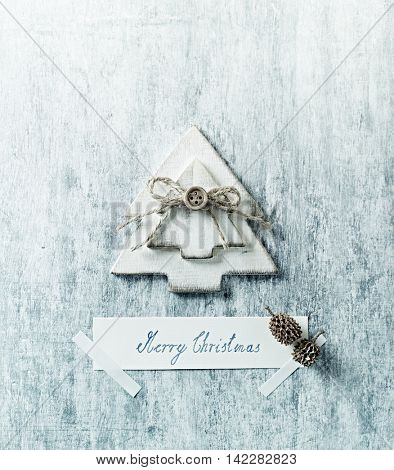 Wooden Christmas Decoration with Christmas Wishes