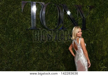 NEW YORK-JUN 7: Actress Kristin Chenoweth attends American Theatre Wing's 69th Annual Tony Awards at Radio City Music Hall on June 7, 2015 in New York City.