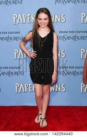 NEW YORK-JUL 21: Actress Hannah Alligood attends the