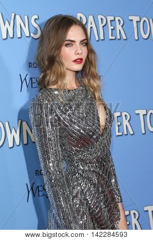 NEW YORK-JUL 21: Model/actress Cara Delevingne attends the