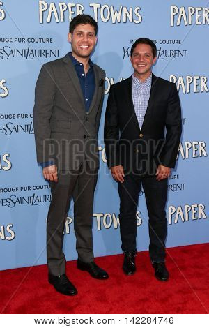 NEW YORK-JUL 21: Screenwriters Michael H. Weber (L) and Scott Neustadter attend the