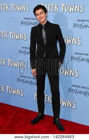 NEW YORK-JUL 21: Actor Nat Wolff attends the