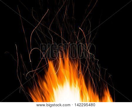 sparks of bonfire night - fire splashes background