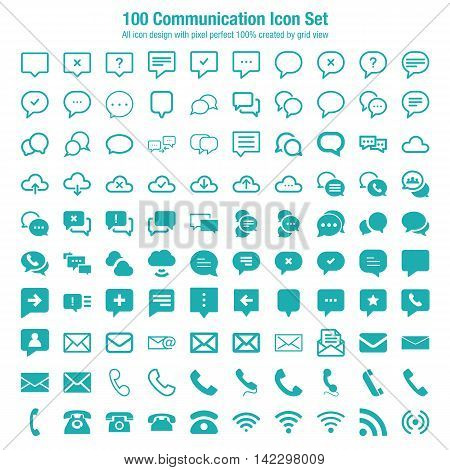 Communication Icon Set. Easy to manipulate, re-size or colorize.