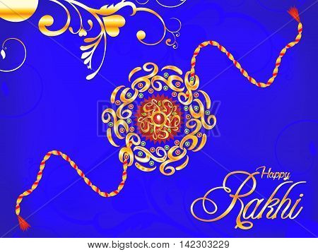 abstract artistic blue rakhi background vector illustration