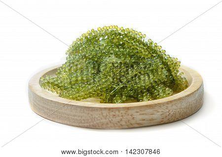 Sea grapes (green caviar ) seaweed Healthy food.
