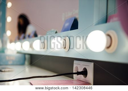 Woman's Makeup Place With Mirror