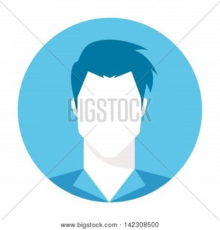 Male avatar profile picture. Default user avatar, guest avatar. Simply human head logo. Vector illustration isolated on white background.