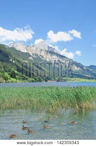 Lake Haldensee in Tannheimer Tal in Tirol,Alps,Austria