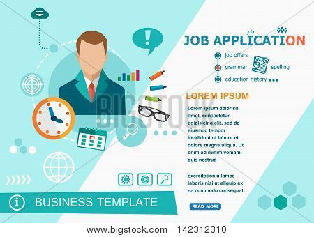 Job Application Concepts Of Words Learning And Training.