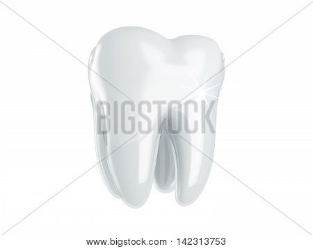 Restoration and renovation of the tooth enamel. 3D render