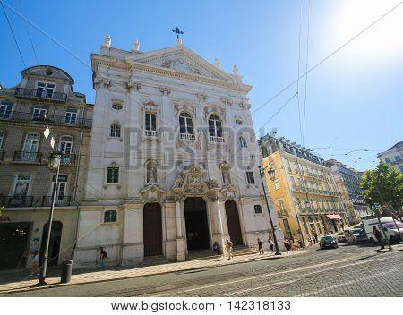 Loreto Church In Bairro Alto, Lisbon, Portugal
