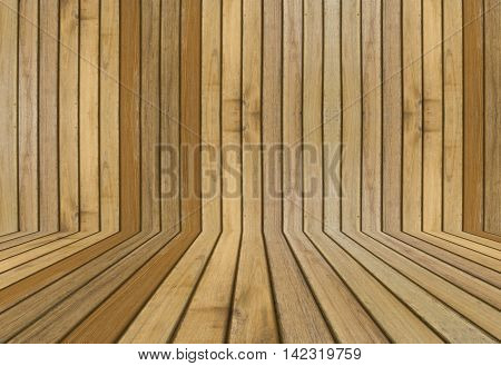 wooden floor and wall in perspective background