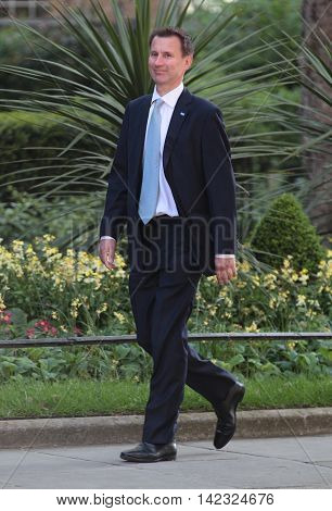 LONDON, UK, MAY 17, 2015: Health Secretary Jeremy Hunt MP arrives for a Cabinet meeting at 10 Downing Street