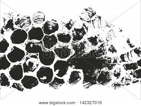 Distressed overlay texture. grunge background. abstract halftone vector illustration