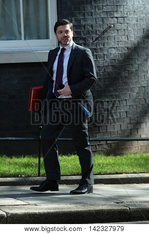 LONDON, UK, MAY 3, 2016: Stephen Crabb MP seen arriving for a cabinet meeting in Downing Street