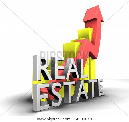 Statistics Graphic With Real Estate Word