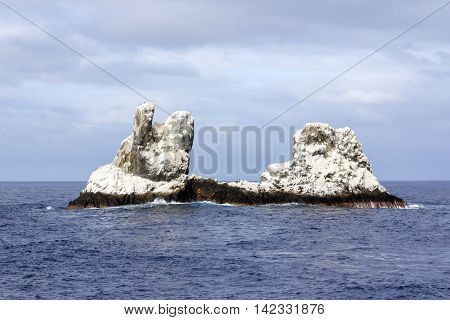 Island Roca Partida at Islas Revillagigedos in Mexico