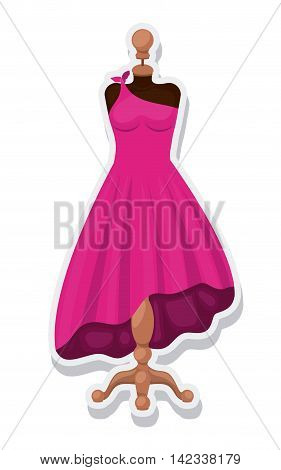 female mannequin isolated icon vector illustration design