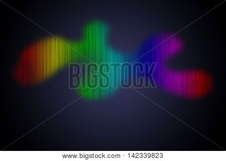 Abstract spectral and colorful lines for background