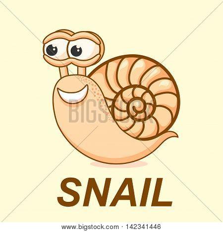 Snail vector illustration. logo, sign, symbol, icon.