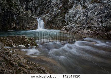 Landscape of beautiful waterfall Sini Vir Bulgaria