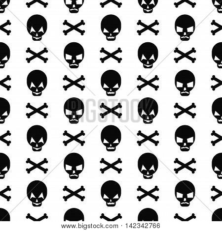 Halloween pattern with skulls. Seamless halloween background. Happy Halloween concept illustration. Design for textile, wallpaper, fabric, decor etc.